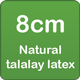 8cm natural talalay latex